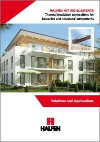 Balkono armavimo elementas salcio tilto pasalinimui HALFEN HIT Brosiura Solutions and Applications