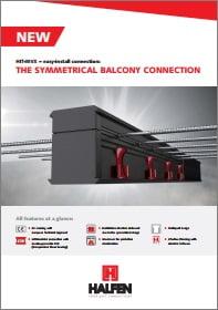 Balkono armavimo elementas salcio tilto pasalinimui HALFEN HIT Brosiura The symetrical balcony connetion