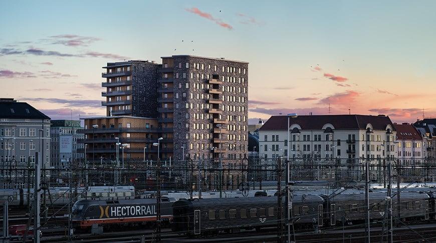Denia Solutions Murinio fasado tvirtinimo sprendimai HALFEN Gyvenamasis namas Malmo Svedija