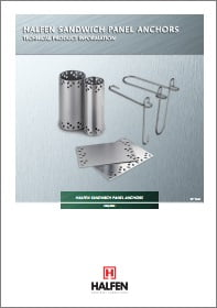 SANDWICH tipo ploksciu sujungimo sistemos HALFEN MVA SPA Denia Solutions brosiura