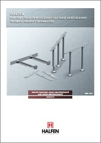 Skersine armatura nuo praspaudimo HALFEN HDB Denia Solutions Brosiura