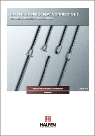 Sriegines besrieges armaturos sujungimo movos HALFEN HBS Denia Solutions Brosiura
