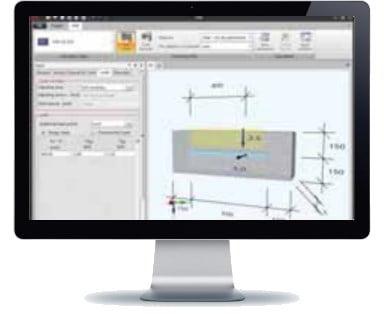 Tvirtinimo begeliai HALFEN HTA Denia Solutions Skaiciavimo programa
