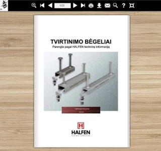 HALFEN tvirtinimo begeliai Mokomoji knyga Denia Solutions VGTU