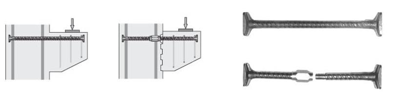 konsolių armavimo detalė HALFEN HSC
